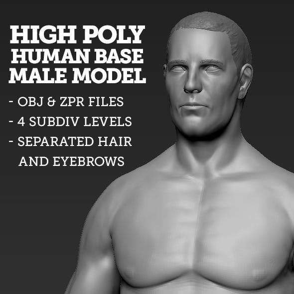 High Polygon Base Human Male Model