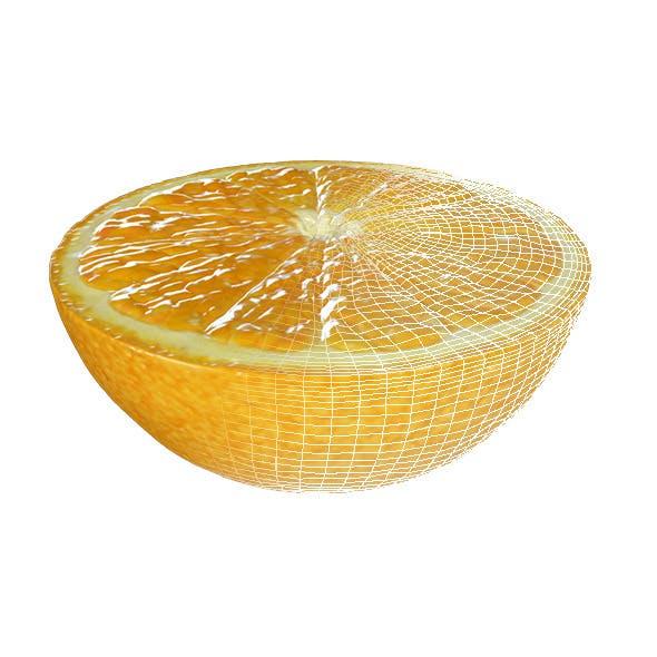 Half Orange - 3DOcean Item for Sale