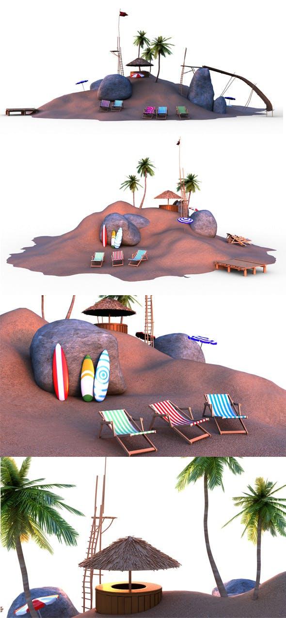 Beach - 3DOcean Item for Sale
