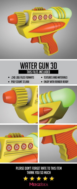 Water Gun 3D - 3DOcean Item for Sale