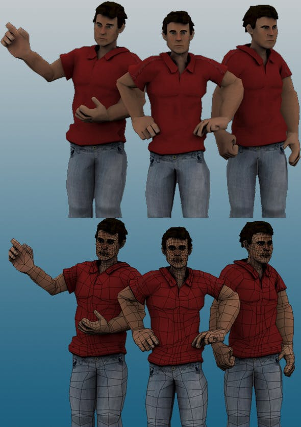 Game Ready Male Character - 3DOcean Item for Sale