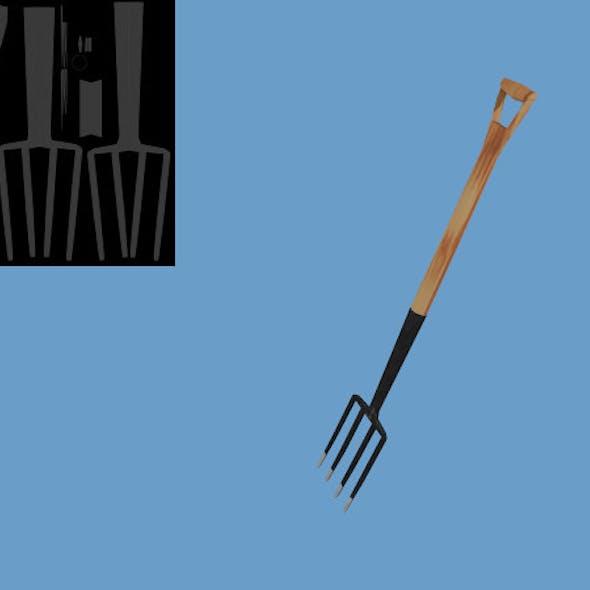 Low Poly Digging Fork
