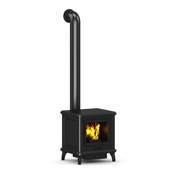 Classic Metal Fireplace - 3DOcean Item for Sale
