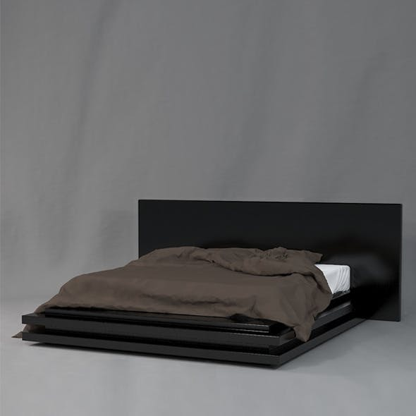 real modern bed - 3DOcean Item for Sale