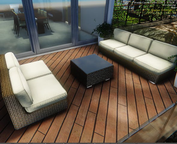 Terrace Couches Set - 3DOcean Item for Sale
