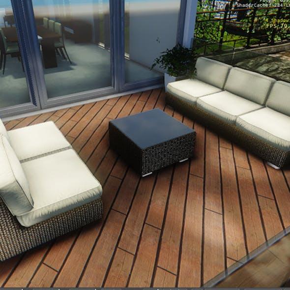 Terrace Couches Set