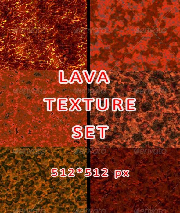 Lava Texture Set - 3DOcean Item for Sale