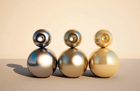 V-Ray Metal Pack  - 3DOcean Item for Sale