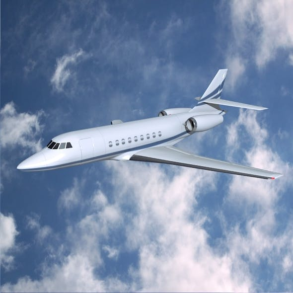 Dassault Falcon 2000dx business jet - 3DOcean Item for Sale