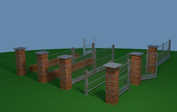 Fence Set - 3DOcean Item for Sale