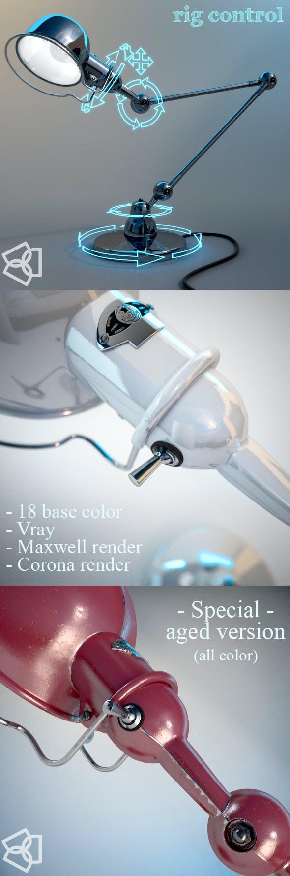 Jieldé D6440 lamp – 3dmodel – rigged - - 3DOcean Item for Sale