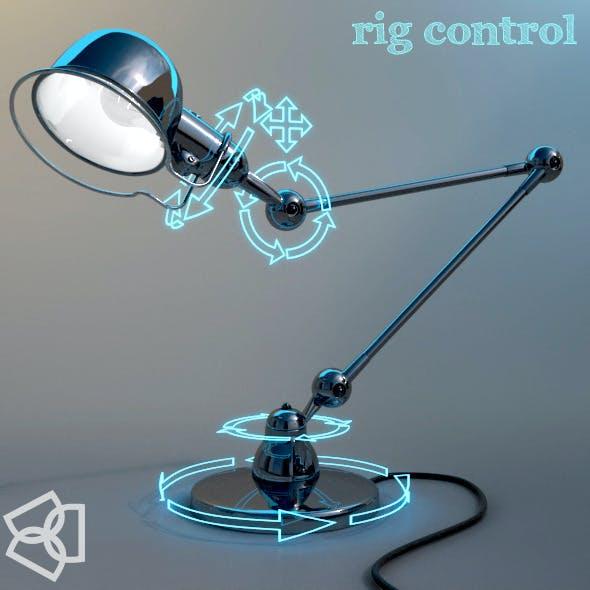 Jieldé D6440 lamp – 3dmodel – rigged -