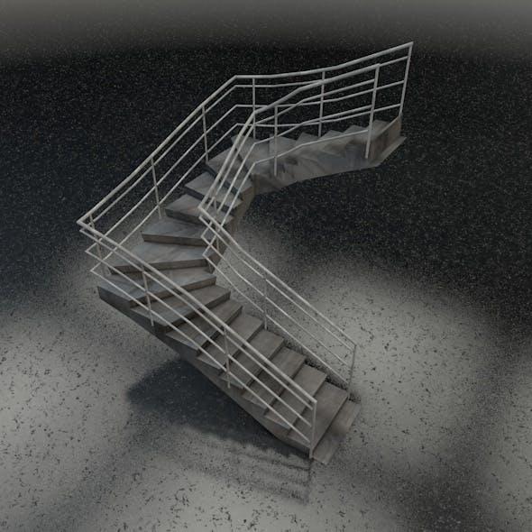 U-shape stairs - 3DOcean Item for Sale