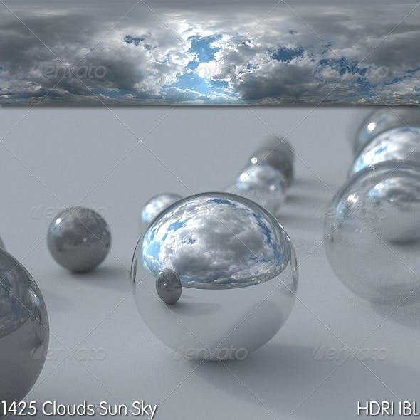 HDRI IBL 1425 Clouds Sun Sky - 3DOcean Item for Sale