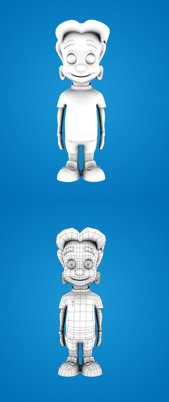 Base Mesh Cartoon Boy - 3DOcean Item for Sale