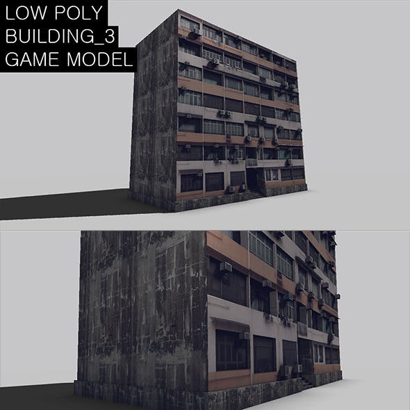 Low Poly Building 3 Game Model
