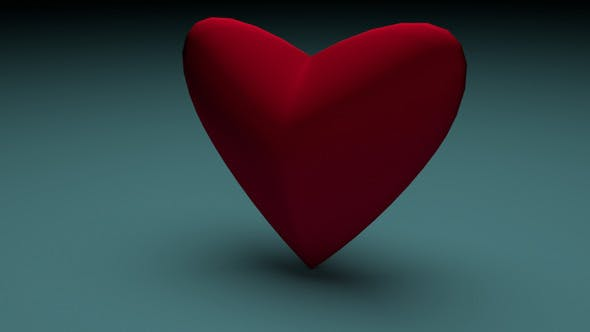 3D Red Heart  - 3DOcean Item for Sale