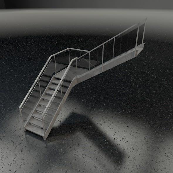 Stairs L-shape.