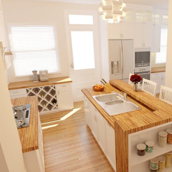 Wood River- Kitchen - 3DOcean Item for Sale