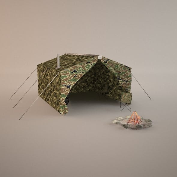 Lowpoly Hunting Tent