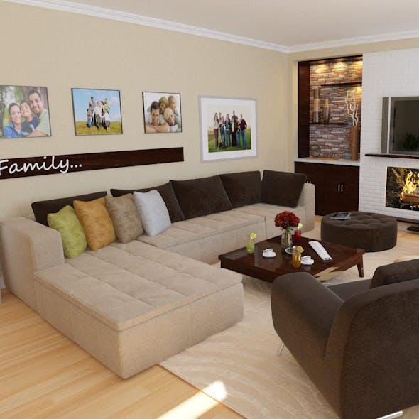 Living room - 3DOcean Item for Sale