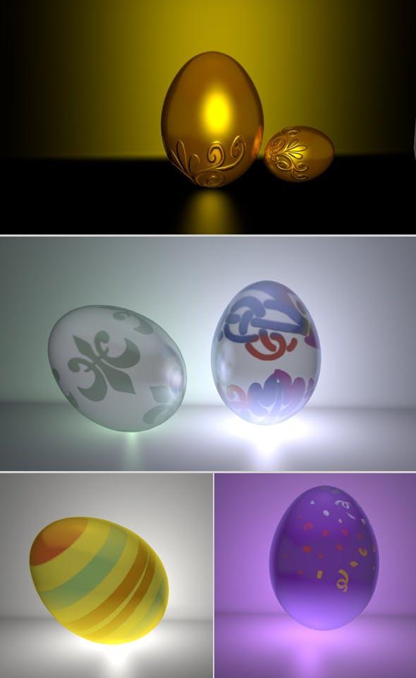 Eggs Set - 3DOcean Item for Sale