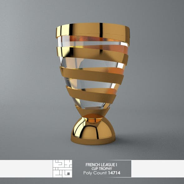 French League 1 Cup Trophy 3D Model