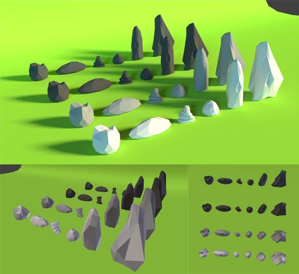 LowPoly Rocks .Pack4 - 3DOcean Item for Sale