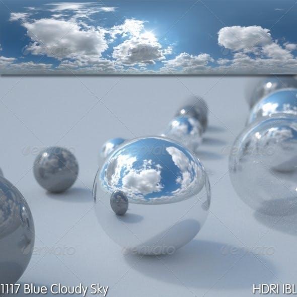 HDRI IBL 1117 Blue Cloudy Sky