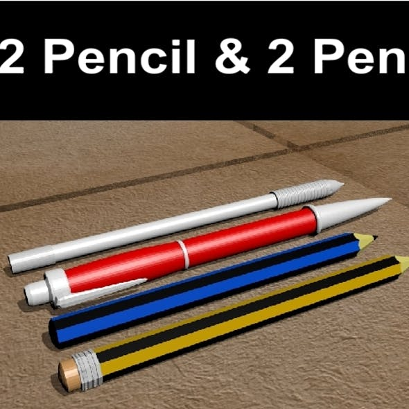 2 Pencil and 2 Pen Pack