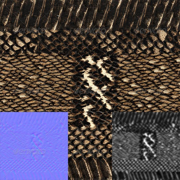 snake skin - 3DOcean Item for Sale