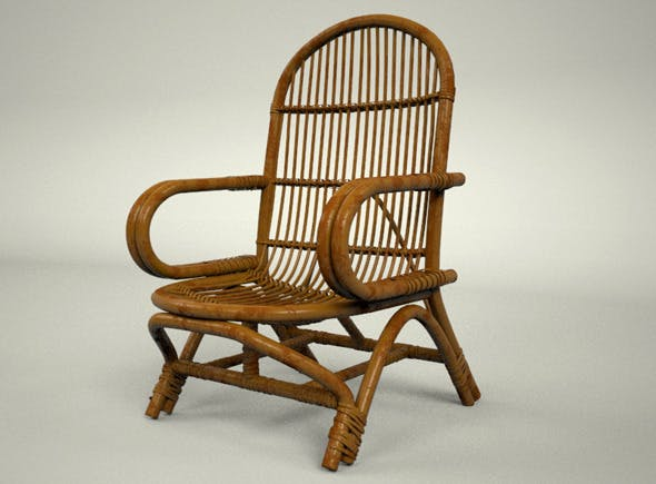 Simple Rattan Chair - 3DOcean Item for Sale
