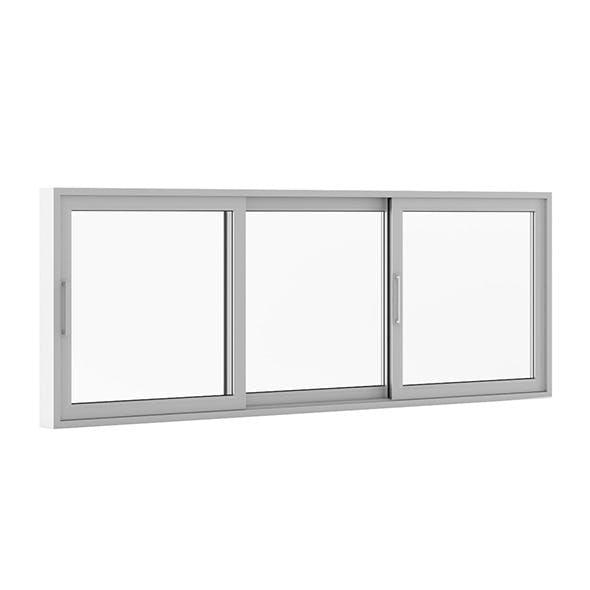 Sliding Metal Window 3520mm x 1283mm - 3DOcean Item for Sale