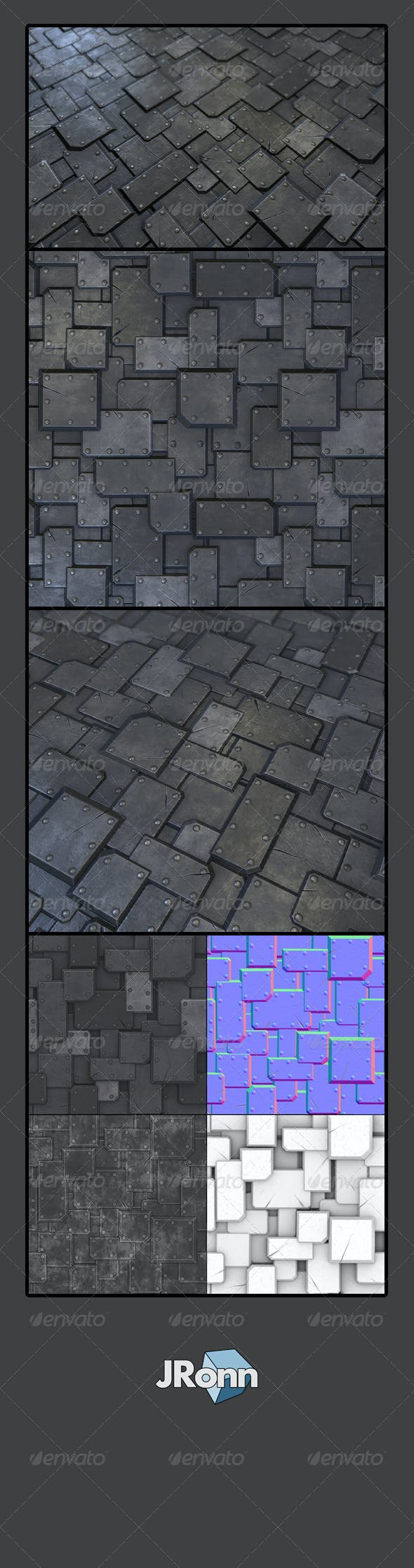 Metal Plate Tile 02 - 3DOcean Item for Sale