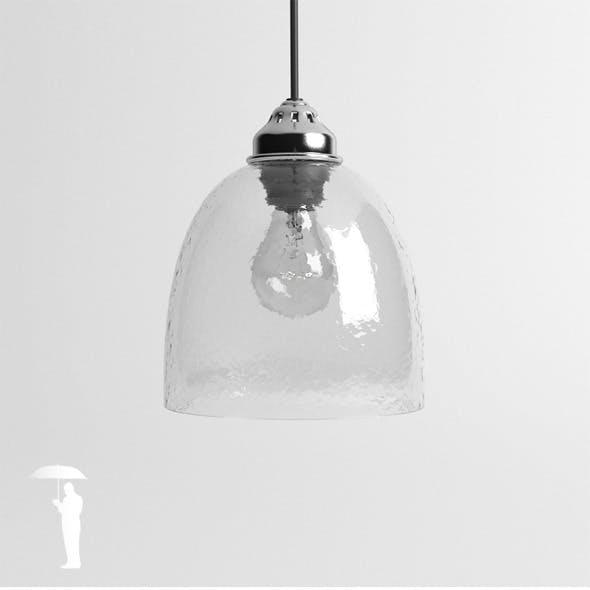 Hubsch hammered glass lamp