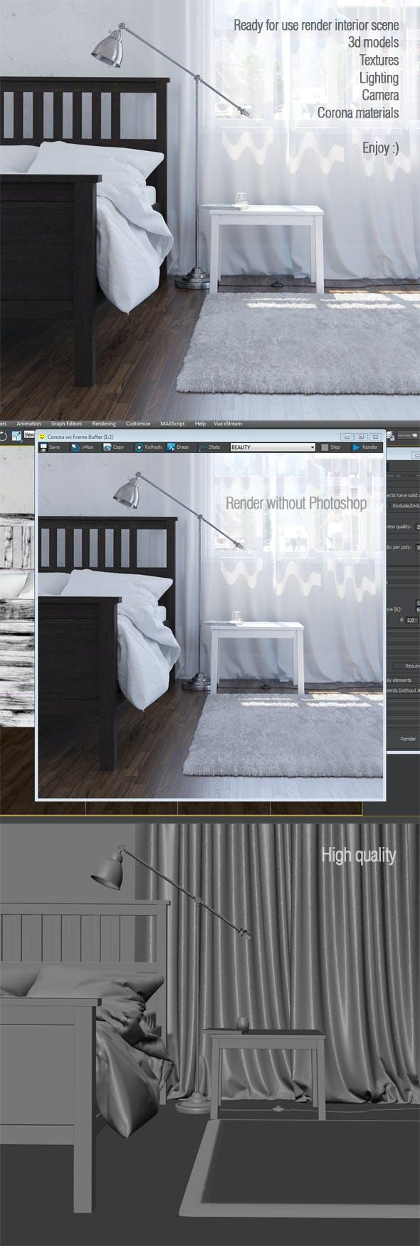 Interior scene. Corona render A6 - 3DOcean Item for Sale