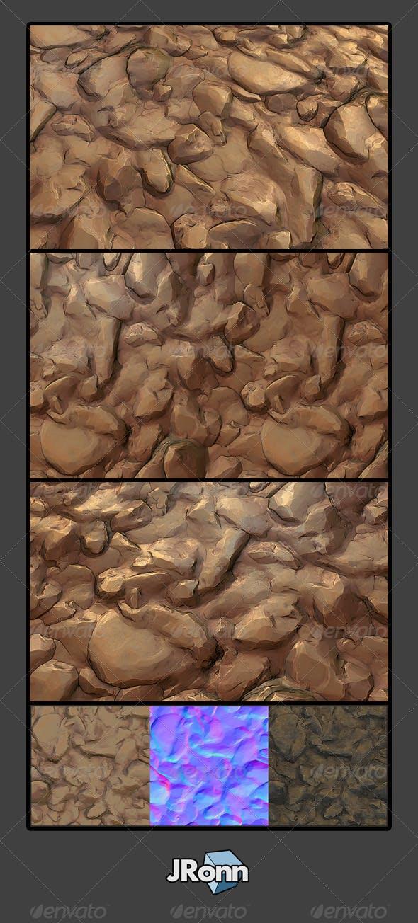 Stone Desert Ground 01 - 3DOcean Item for Sale