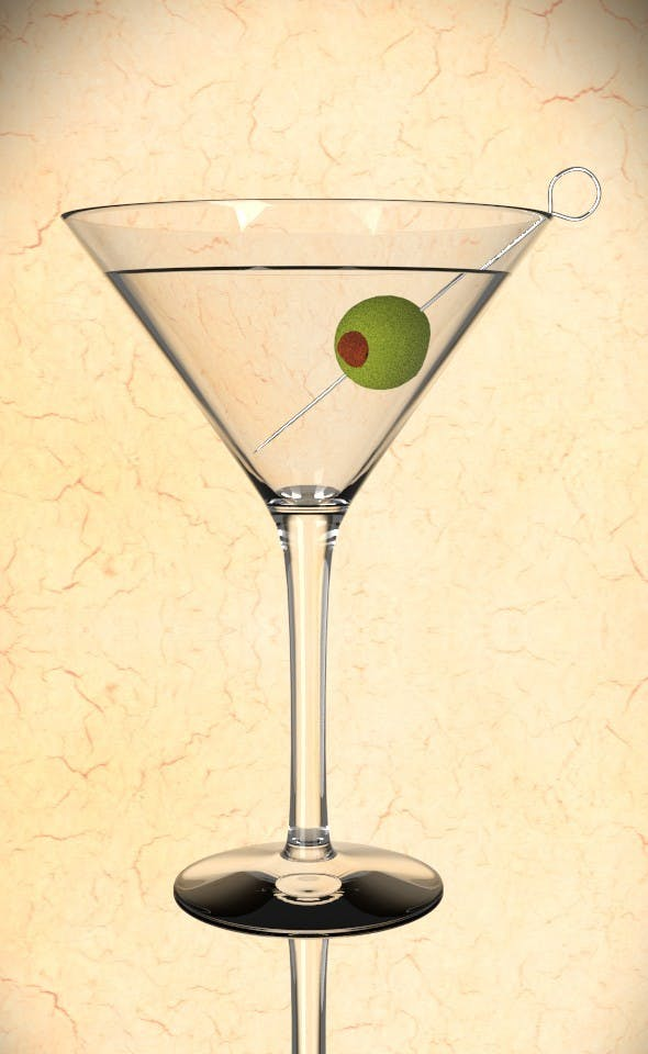 Martini Glas with Olive - 3DOcean Item for Sale