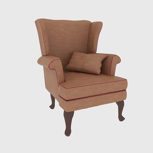 Leather Armchair - 3DOcean Item for Sale