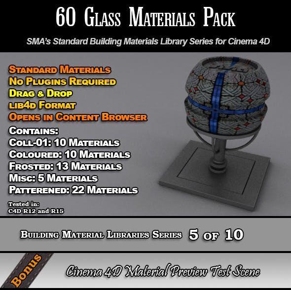 60 Standard Glass Materials Pack for Cinema 4D - 3DOcean Item for Sale