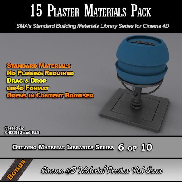 15 Standard Plaster Materials Pack for Cinema 4D