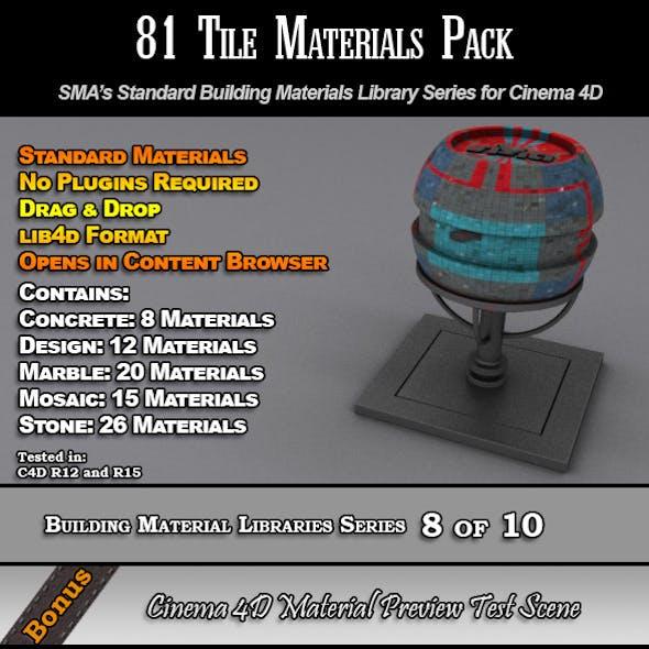 81 Standard Tiles Material Pack for Cinema 4D