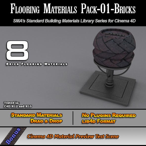 Flooring Materials Pack-01-Bricks