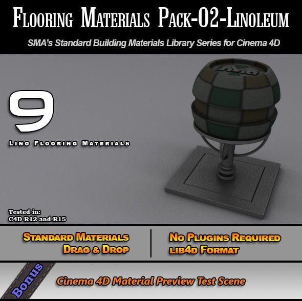 Flooring Materials Pack-02-Linoleum - 3DOcean Item for Sale