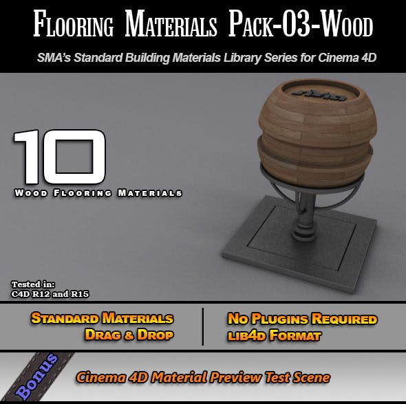 Flooring Materials Pack-03-Wood - 3DOcean Item for Sale