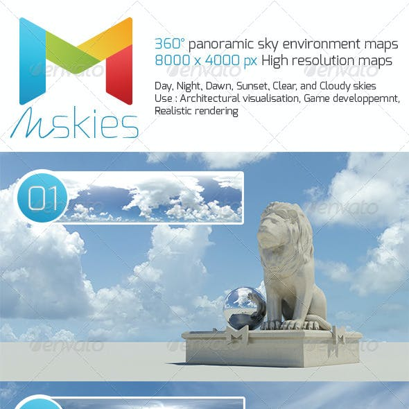 360° High Resolution Panoramic Sky maps