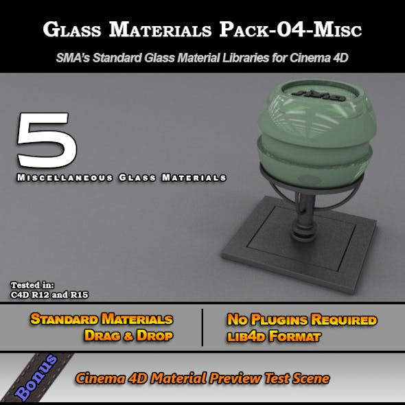 Glass Materials Pack-04-Misc for Cinema 4D