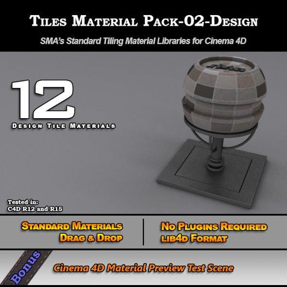 Standard Tiles Material Pack-02-Design for C4D