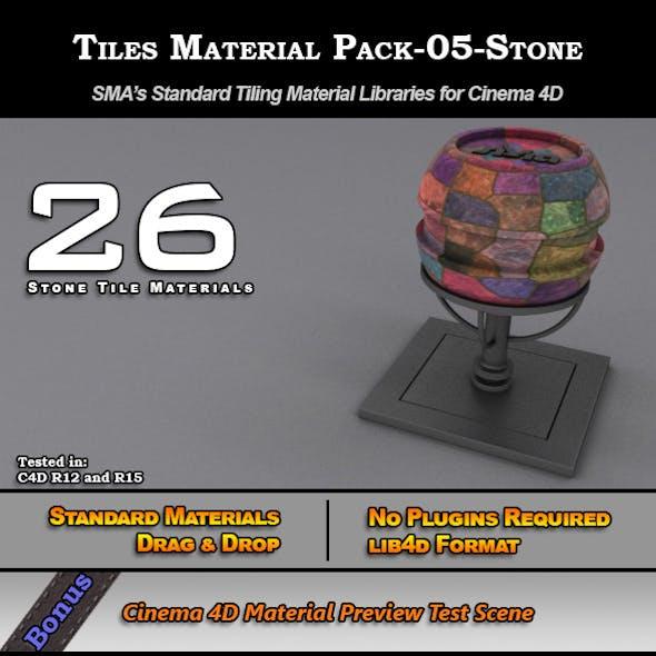 Standard Tiles Material Pack-05-Stone for C4D