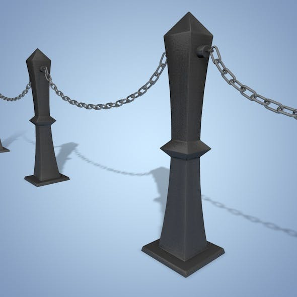 Bollard Chain - 3DOcean Item for Sale